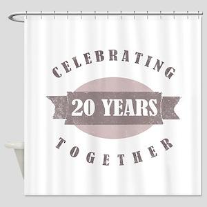 Vintage 20th Anniversary Shower Curtain