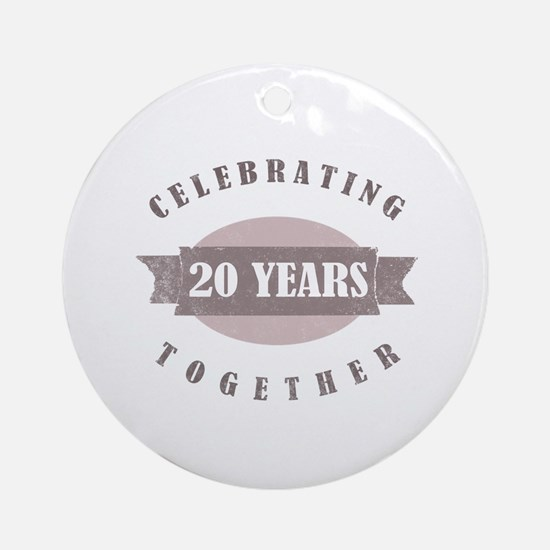 Vintage 20th Anniversary Ornament (Round)