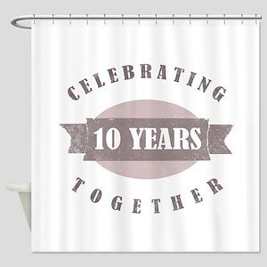 Vintage 10th Anniversary Shower Curtain