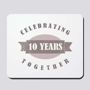 Vintage 10th Anniversary Mousepad