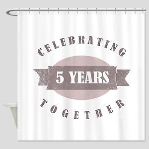 Vintage 5th Anniversary Shower Curtain