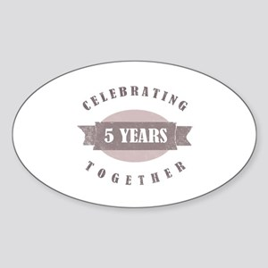 Vintage 5th Anniversary Sticker (Oval)