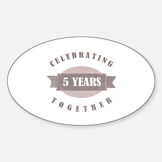 Vintage 5th Anniversary Sticker (Oval)
