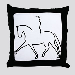 Dressurpferd Throw Pillow