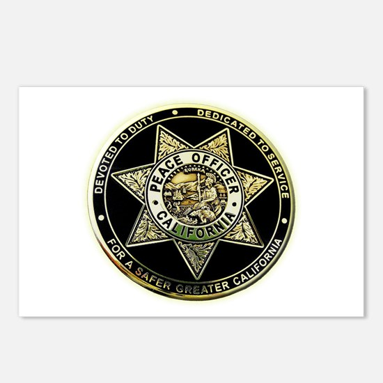 California Peace Officer Postcards (Package of 8)