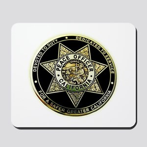 California Peace Officer Mousepad