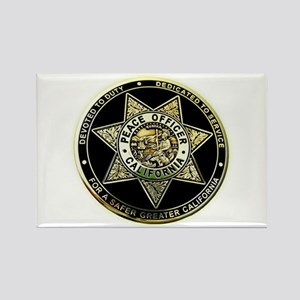 California Peace Officer Rectangle Magnet