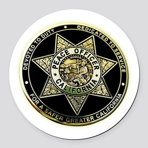 California Peace Officer Round Car Magnet