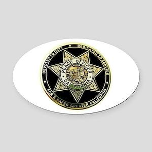 California Peace Officer Oval Car Magnet