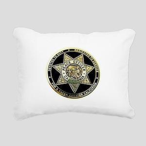 California Peace Officer Rectangular Canvas Pillow