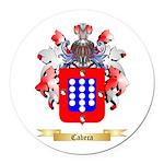 Cabeca Round Car Magnet