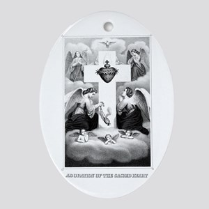 Adoration of the Sacred Heart Oval Ornament