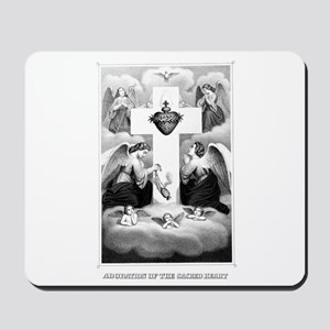 Adoration of the Sacred Heart Mousepad