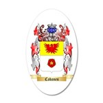 Cabanes 20x12 Oval Wall Decal