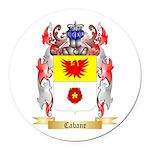 Cabane Round Car Magnet