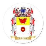 Cabanais Round Car Magnet