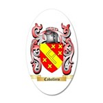 Caballero 20x12 Oval Wall Decal