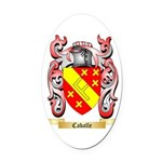 Caballe Oval Car Magnet