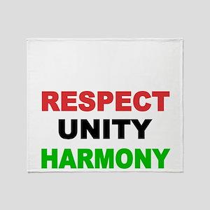 Respect Unity Harmony Throw Blanket