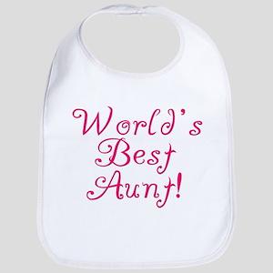 World's Best Aunt! - Pink Bib