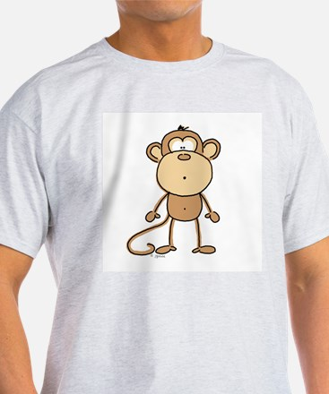 Oooh Monkey Ash Grey T-Shirt