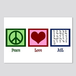 Peace Love ASL Postcards (Package of 8)