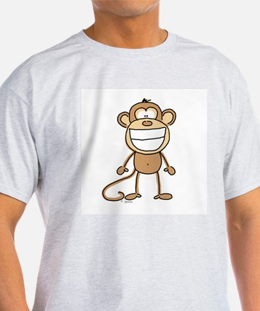 Big Monkey Grin Ash Grey T-Shirt