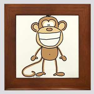 Big Monkey Grin Framed Tile