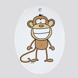 Big Monkey Grin Oval Ornament
