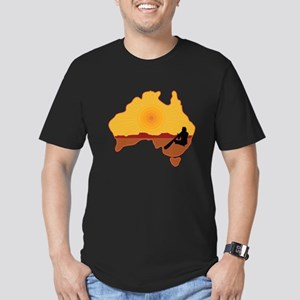 Australia Aboriginal Men's Fitted T-Shirt (dark)