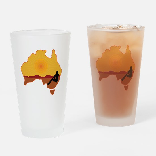 Australia Aboriginal Drinking Glass