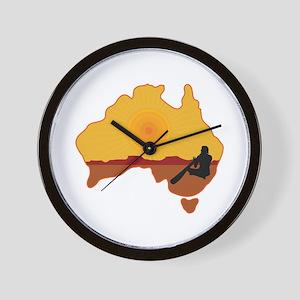 Australia Aboriginal Wall Clock