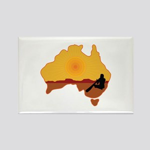 Australia Aboriginal Rectangle Magnet