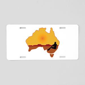 Australia Aboriginal Aluminum License Plate