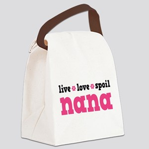 Live Love Spoil Nana Canvas Lunch Bag