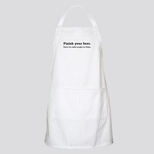 Finish Your Beer BBQ Apron