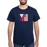 Philippine Flag & US Flag Dark T-Shirt