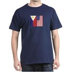 Philippine Flag & US Flag Dark T-Shirt