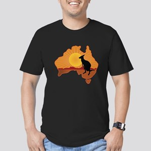 Australia Kangaroo Men's Fitted T-Shirt (dark)