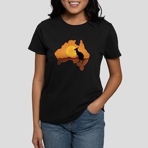 Australia Kangaroo Women's Dark T-Shirt