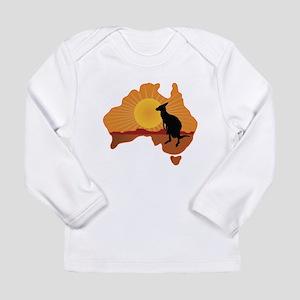 Australia Kangaroo Long Sleeve Infant T-Shirt