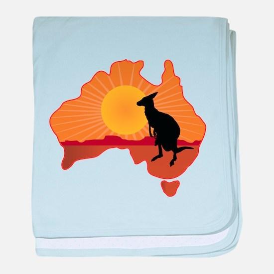 Australia Kangaroo baby blanket