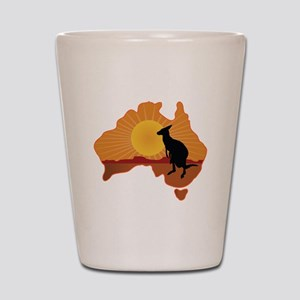 Australia Kangaroo Shot Glass