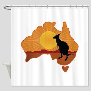 Australia Kangaroo Shower Curtain