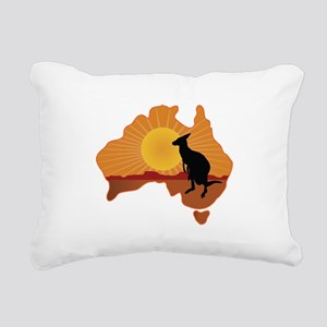 Australia Kangaroo Rectangular Canvas Pillow