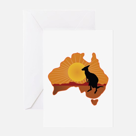 Australia Kangaroo Greeting Card