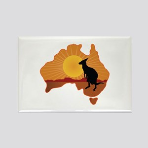 Australia Kangaroo Rectangle Magnet