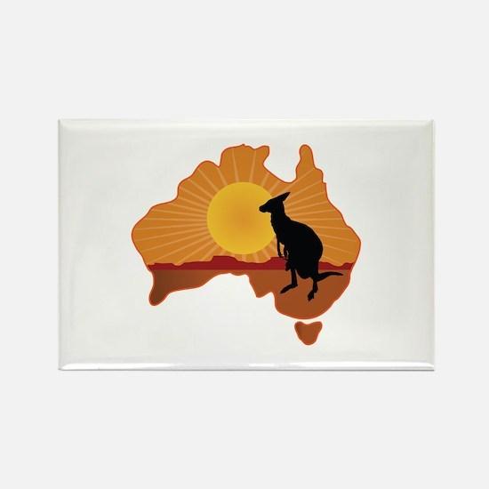 Australia Kangaroo Rectangle Magnet
