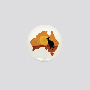 Australia Kangaroo Mini Button