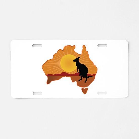 Australia Kangaroo Aluminum License Plate